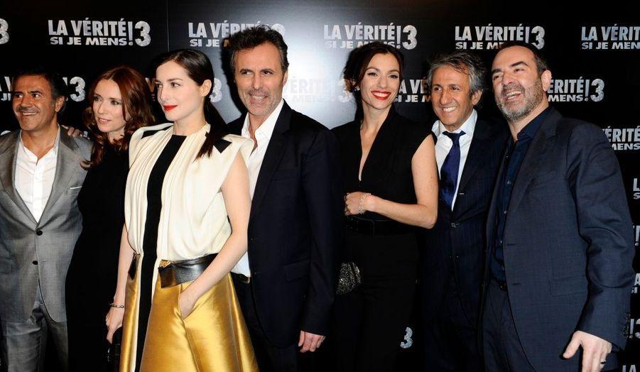 Le casting du film La vérité si je mens 3, lors l'avant-première au grand Rex à Paris.