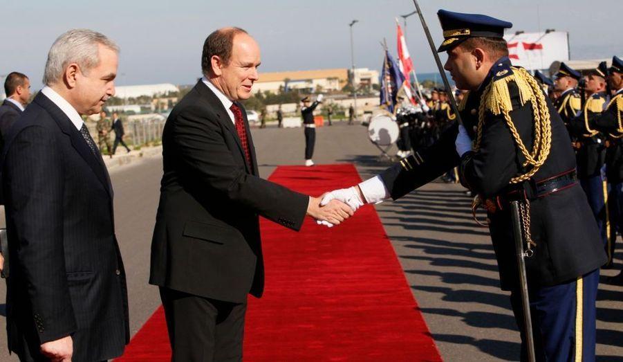 Albert de Monaco a entamé aujourd'hui une visite officielle de deux jours au Liban.