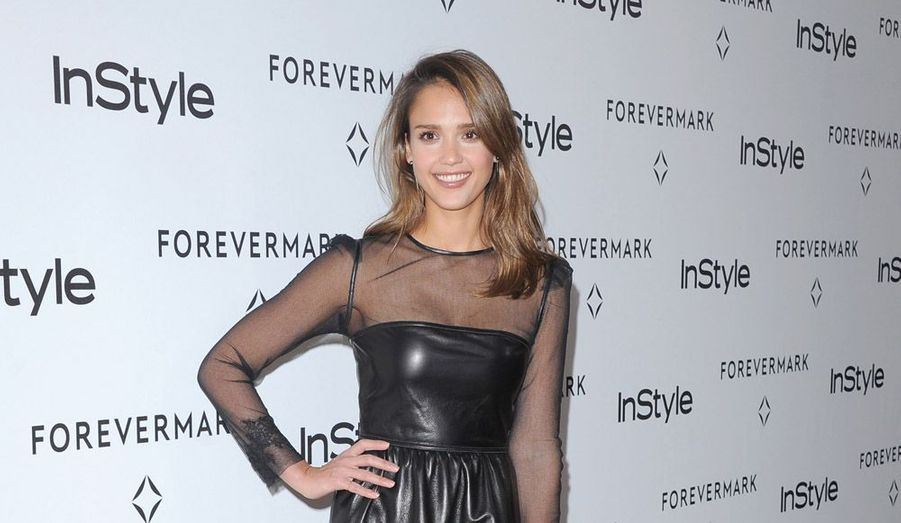 Jessica Alba aux In Style Golden Globes Event, mardi soir à Beverly Hills.