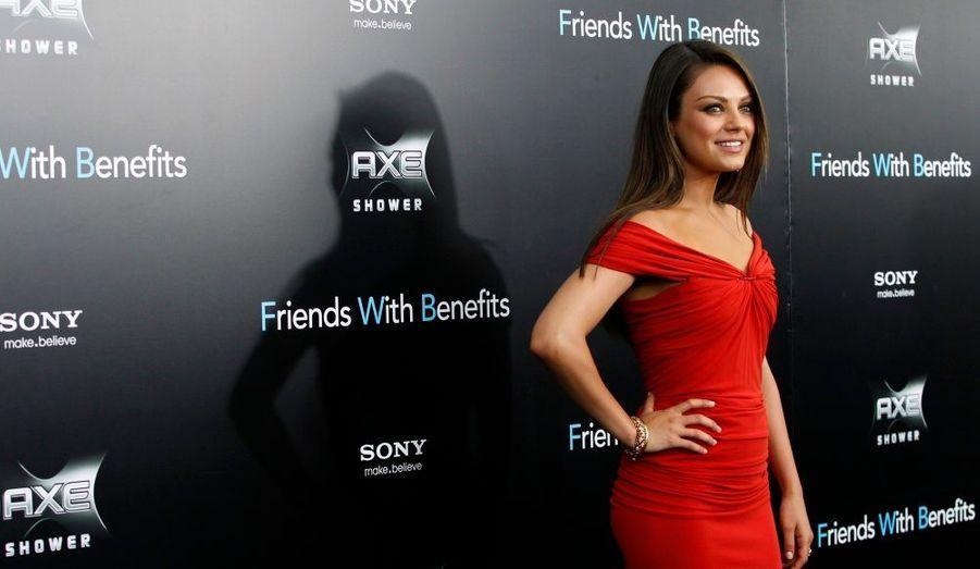 Mila Kunis, à l'avant-première du film Sexe entre amis –Friends With Benefits- à New York.
