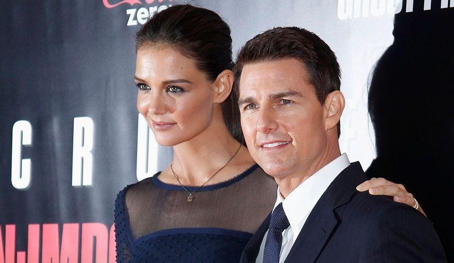 """Tom Cruise et sa femme Katie Holmes ont assisté à l'avant-première du film """"Mission: Impossible - Protocole fantôme"""" à New York."""
