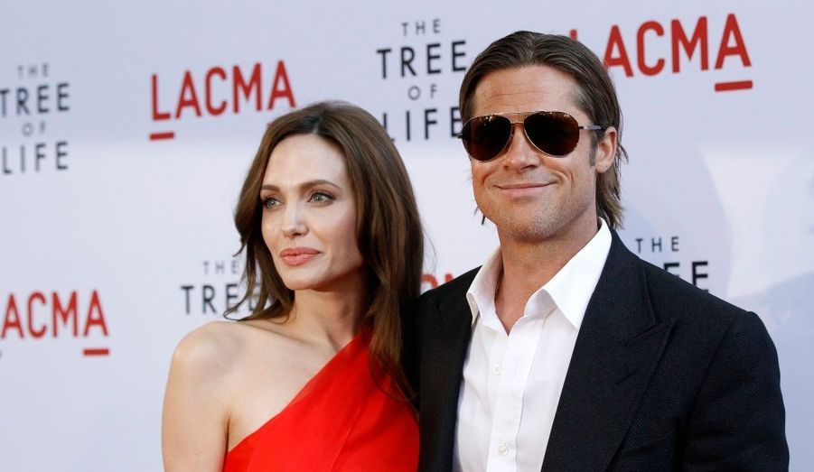 Angelina Jolie et Brad Pitt, à l'avant-première du film Tree of Life, à Los Angeles.