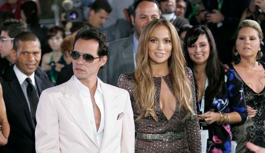 Jennifer Lopez et Marc Anthony à la 11e édition des Latin Grammy Awards, à Las Vegas.