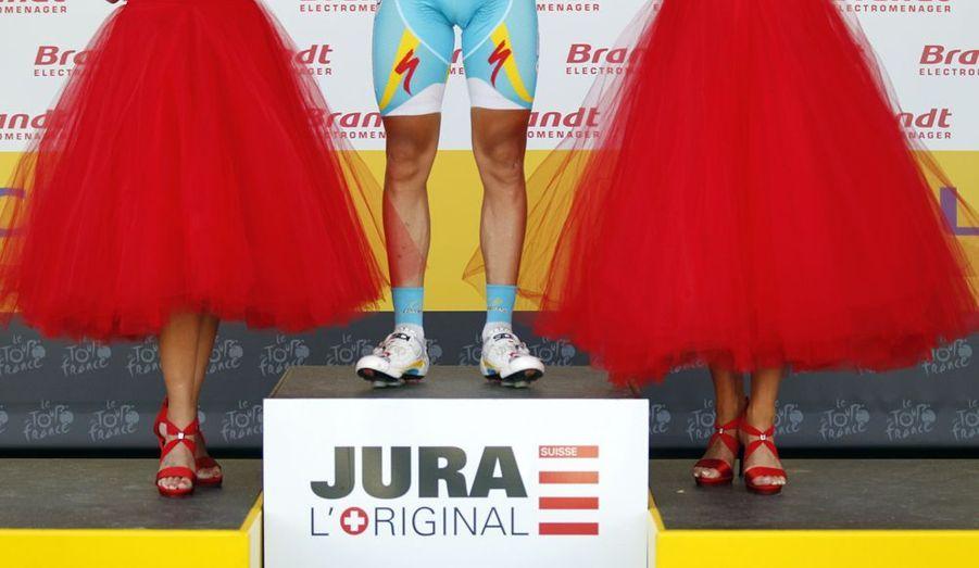 Le 8 juillet, lors de la huitième étape du Tour de France, le coureur suédois monte sur le podium.