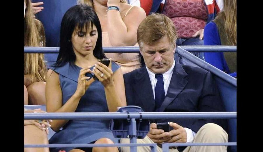 Alec Baldwin et Hilaria Thomas au match d'ouverture de l'U.S. Open à New York.