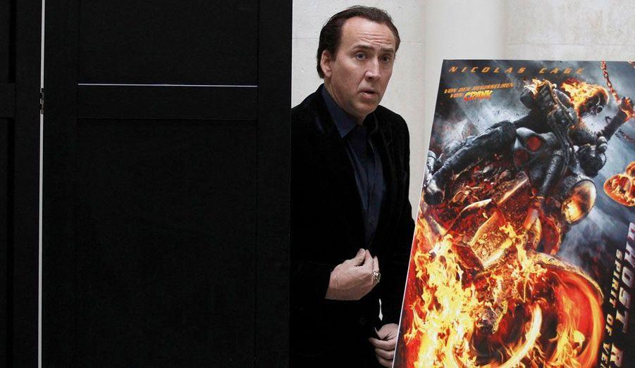 L'acteur Nicolas Cage est venu promouvoir à Berlin son dernier film, «Ghost Rider: L'esprit de vengeance».