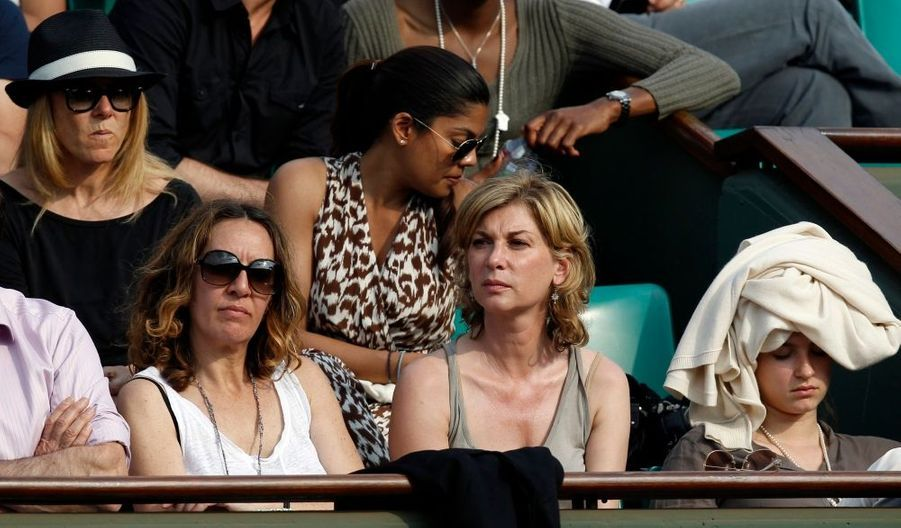 Michelle Laroque a assisté au match Rafael Nadal-Nicolas Almagro mercredi.