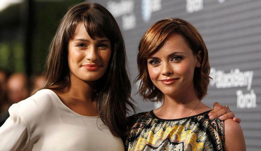 Les actrices Lea Michele et Christina Ricci ont asissté à la soirée de lancement du Blackberry Touch, à Los Angeles.