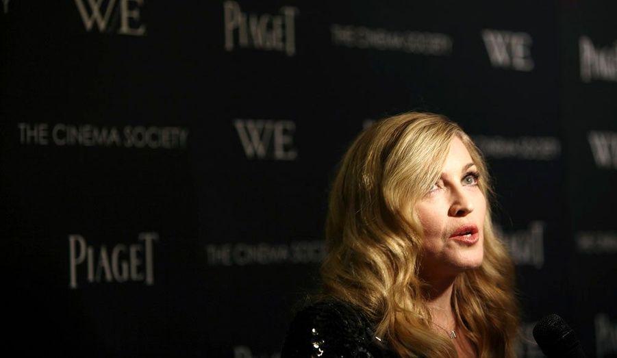 La chanteuse Madonna présentait dimanche soir à New York son dernier film, «W.E.», dont elle est la réalisatrice.