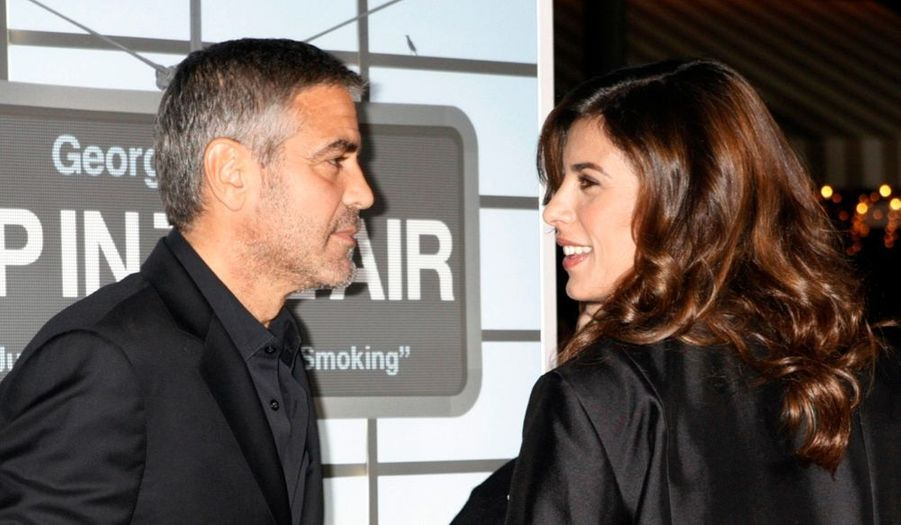 George Clooney et sa belle Elisabetta Canalis, à la première de son film In the air, à Los Angeles.