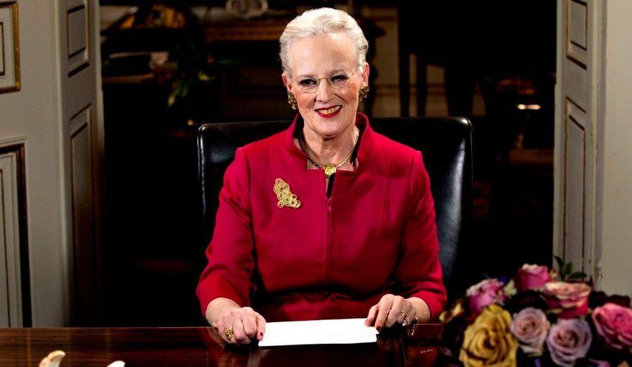 La Reine Margrethe de Danemark a adressé ses voeux au peuple danois à la télévision.