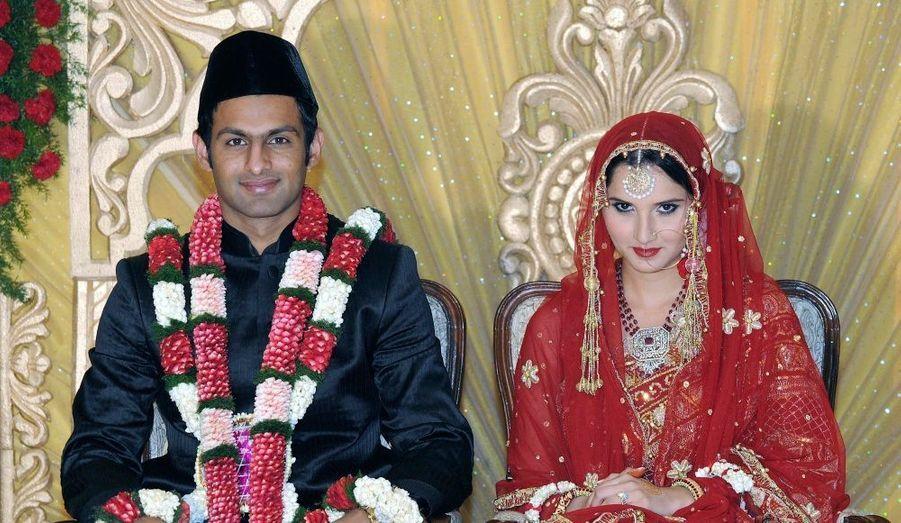 Le mariage de la star pakistanaise du cricket, Shoaib Malik et de la championne indienne de tennis, Sania Mirza s'est déroulé en Inde, à Hyderabad dans le décor somptueux bollywoodien du Taj Krishna hotel.
