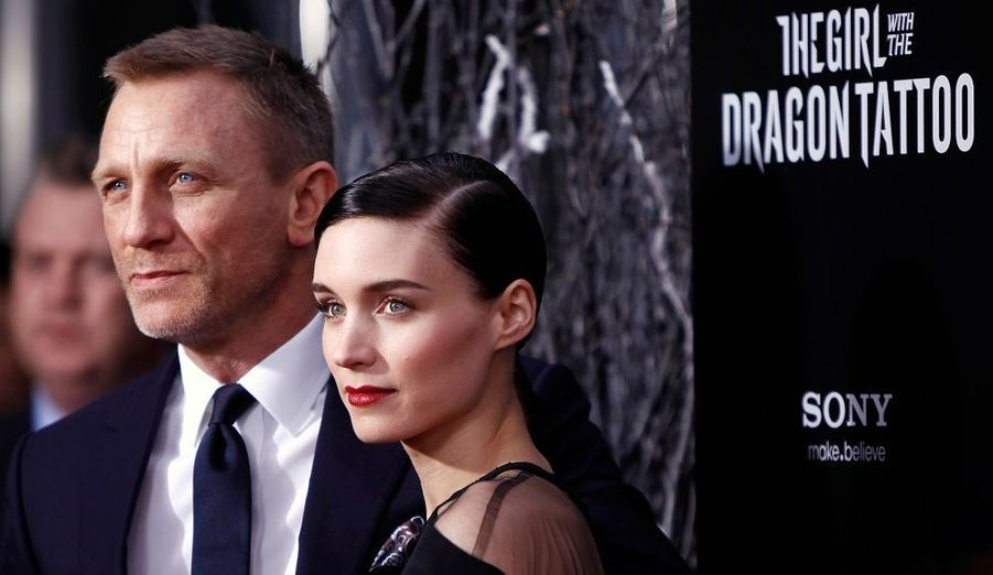 Daniel Craig et Rooney Mara, lors de l'avant-première du film The Girl with the Dragon Tattoo, à New York.