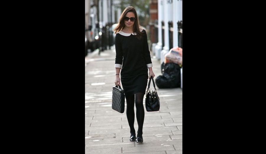 Pippa Middleton, photographiée dans le quartier de South Kensington, à Londres.