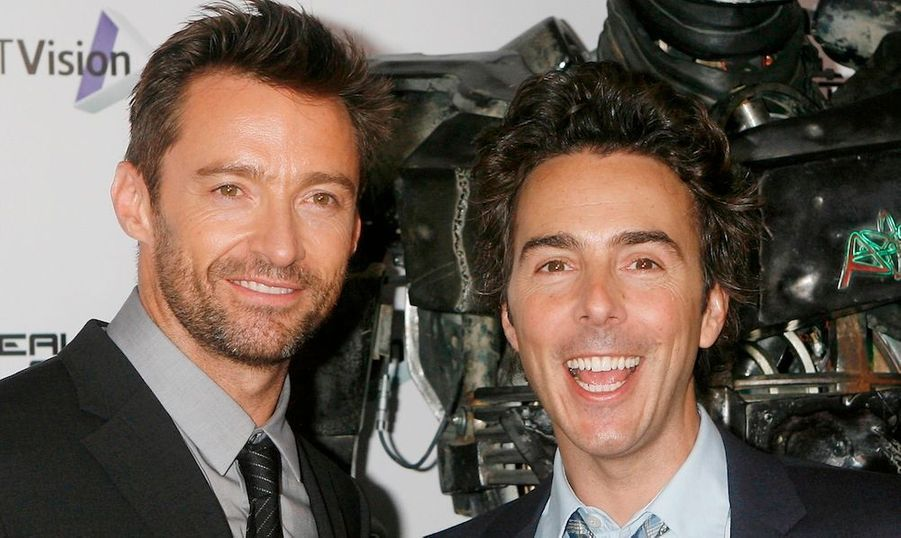 "Hugh Jackman et le réalisateur Shawn Levy à la projection du film ""Real Steel"" à Londres."