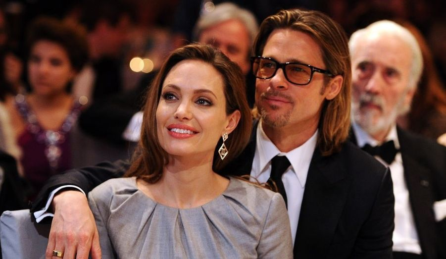 Angelina Jolie et Brad Pitt à l'événement caritatif Cinema for Peace 2012 en marge du 62ème Festival de Berlin.