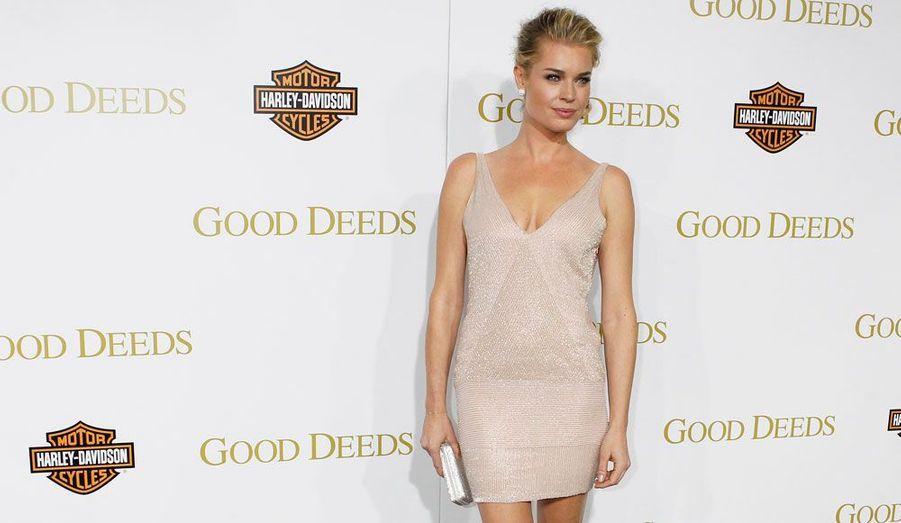 La comédienne Rebecca Romijn, lors de la première du film «Good Deeds» de Tyler Perry, à Los Angeles.