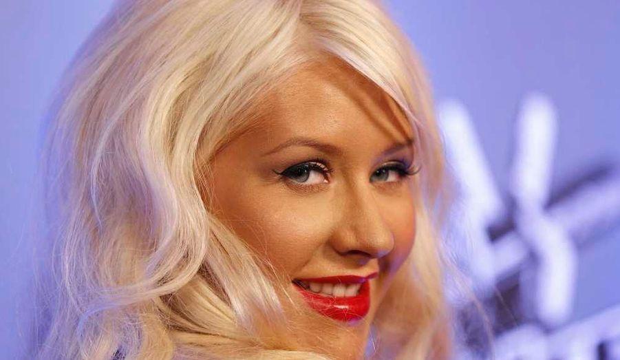 Christina Aguilera à la soirée inaugurale de la série The Voice, hier soir à Los Angeles.