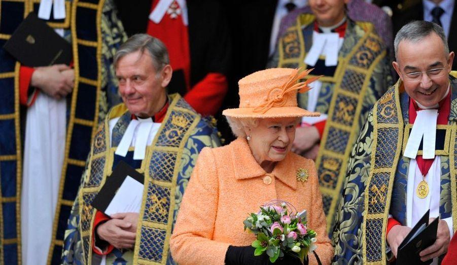La reine d'Angleterre a participé aujourd'hui à la traditionnelle célébration du Commonwealth, en l'abbaye de Westminster.