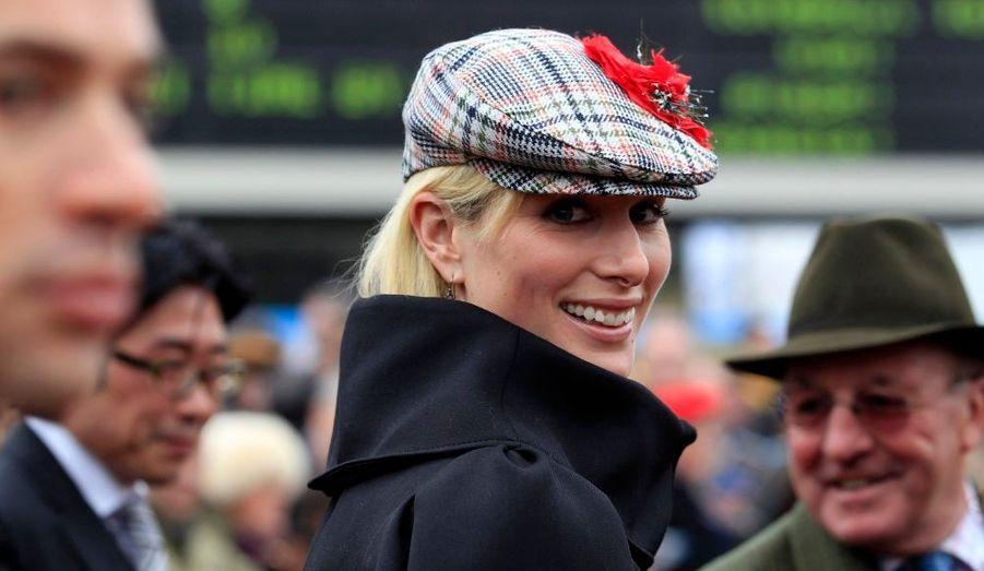 Zara Phillips, au festival de Cheltenham dans le Gloucestershire.