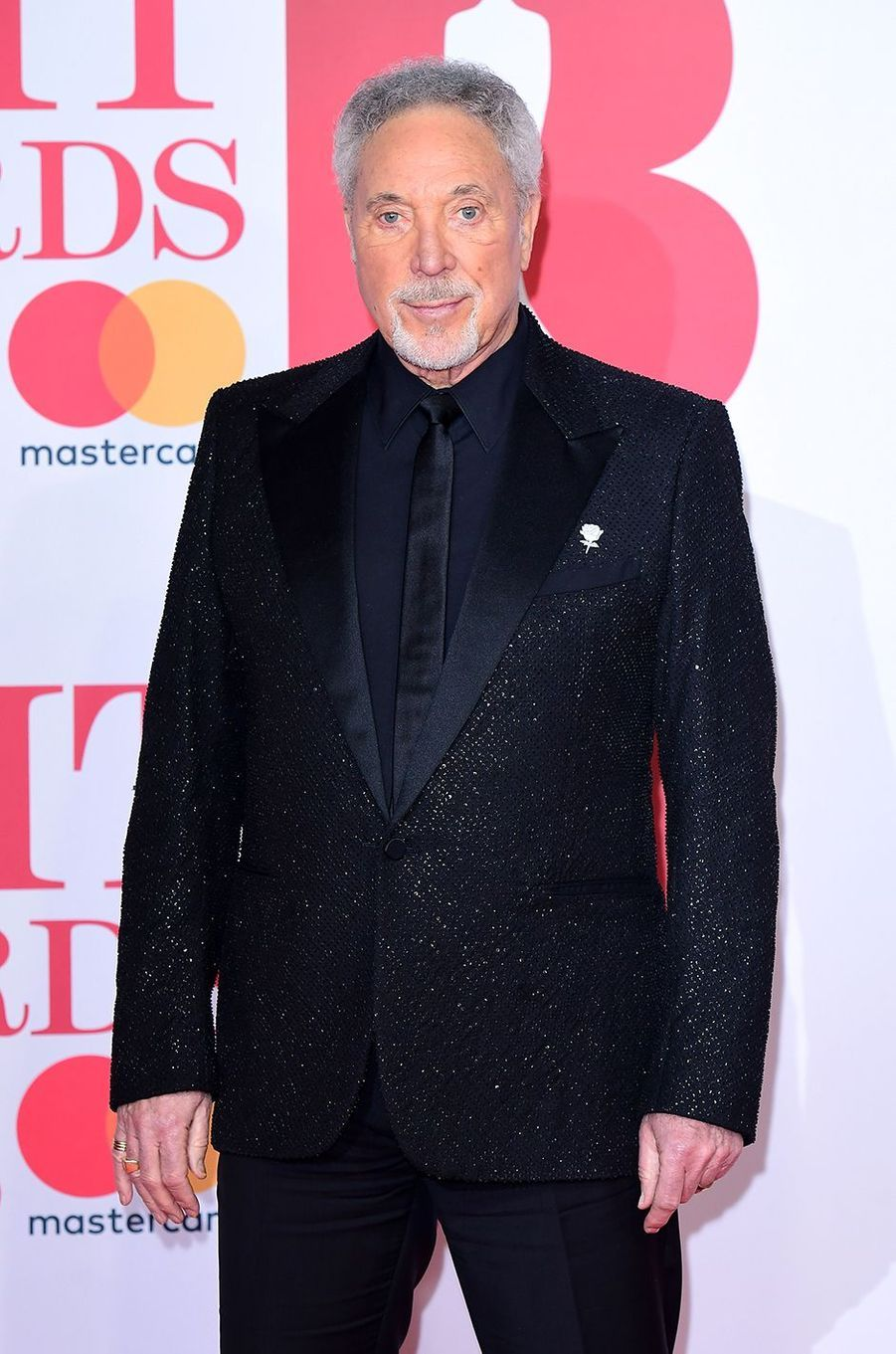 Sir Tom Jones à la cérémonie des Brit Awards 2018, le 21 février 2018.