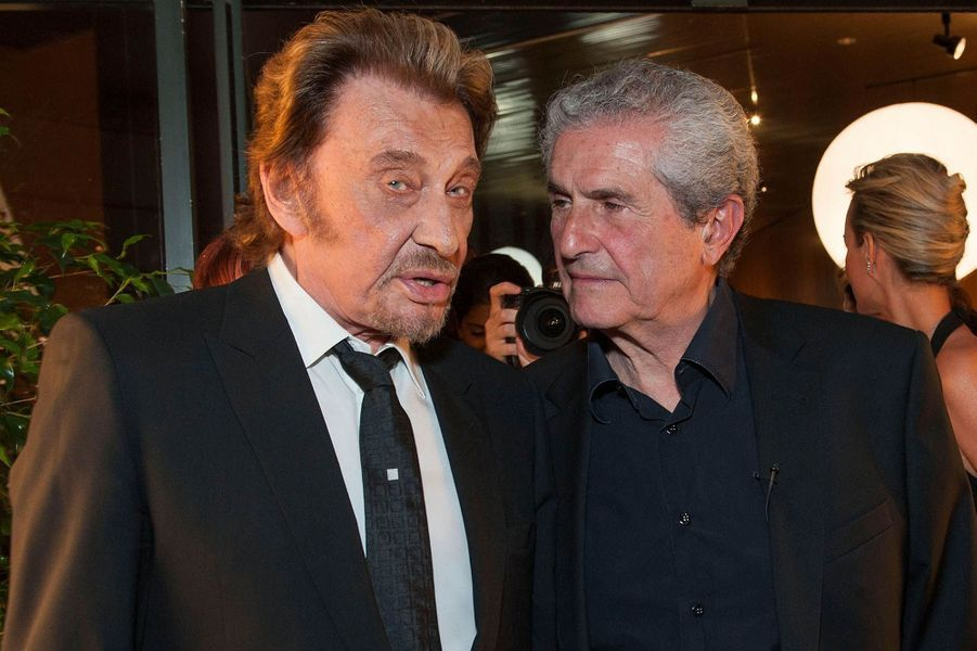 Johnny Hallyday et Claude Lelouch en 2014.