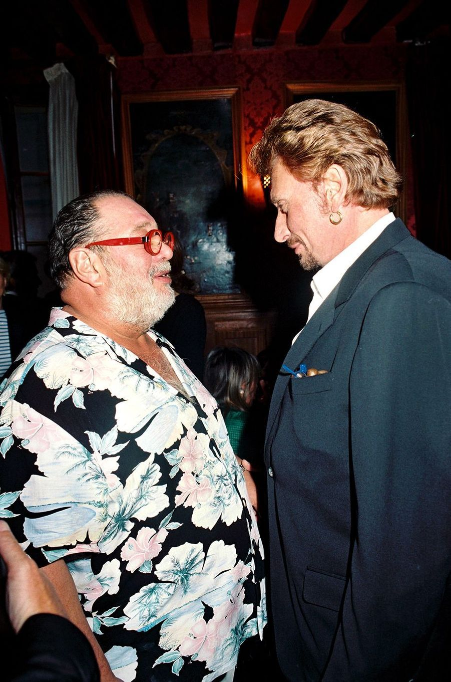 Johnny Hallyday et Carlos en 1998.