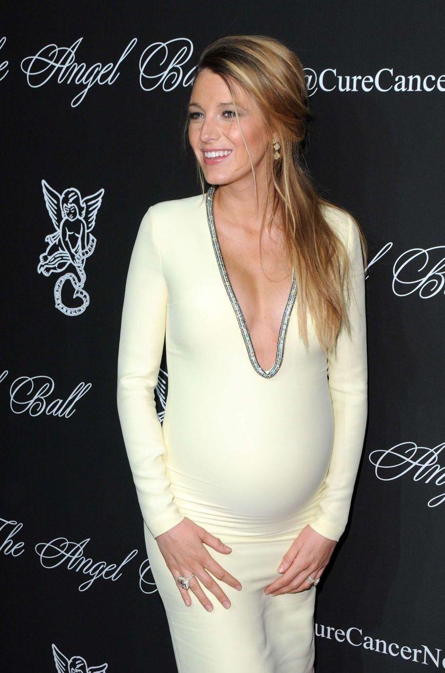 Blake Lively enceinte en 2014.