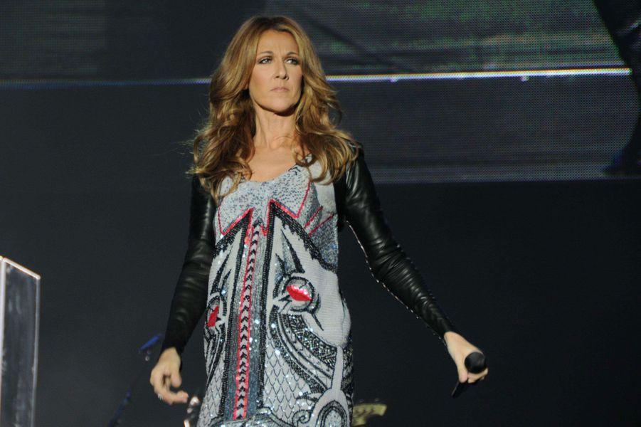 Céline Dion en concert à Shanghai en avril 2013.