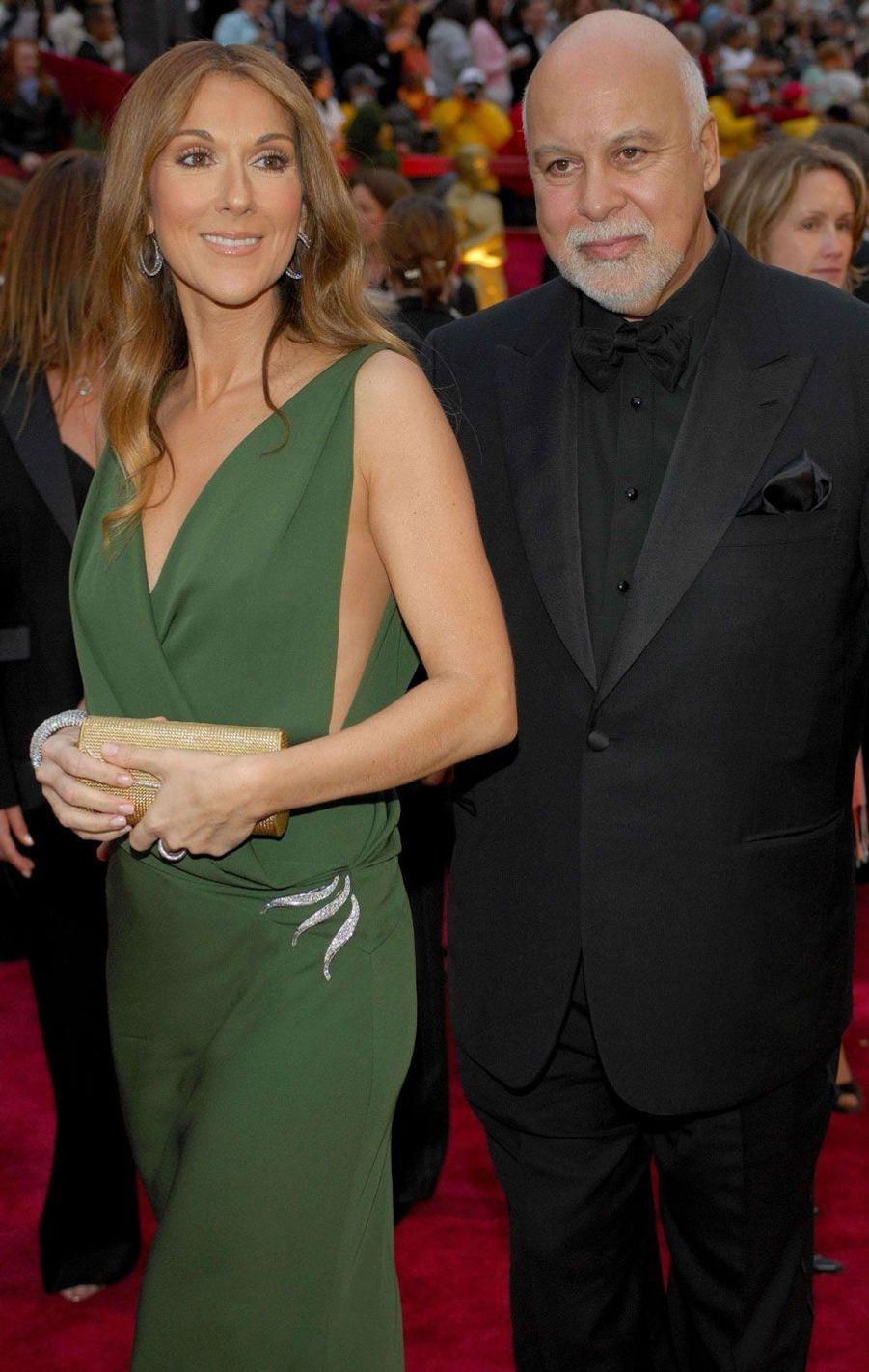 Céline Dion enceinte avec son mari René Angélil.