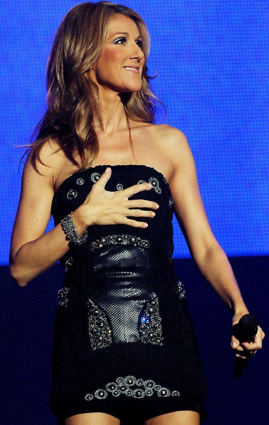 Céline Dion à Seoul en mars 2008.