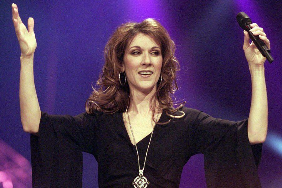 Céline Dion à Montréal en 2002.