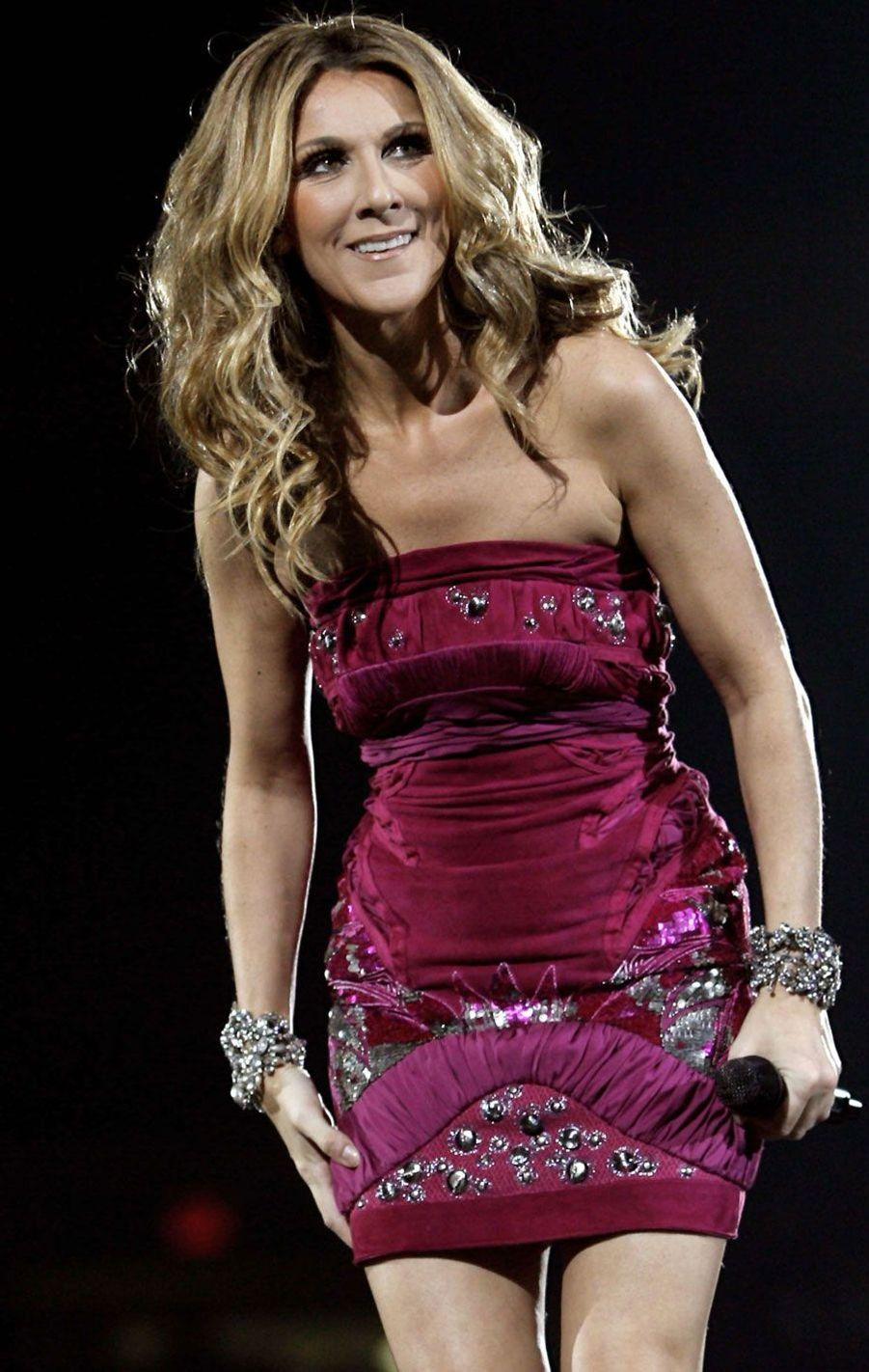 Céline Dion à New York en 2008.