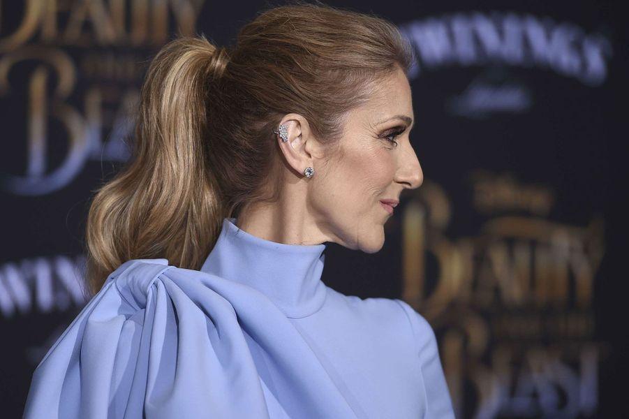 """Céline Dion à l'avant-première de """"La Belle et la Bête""""."""