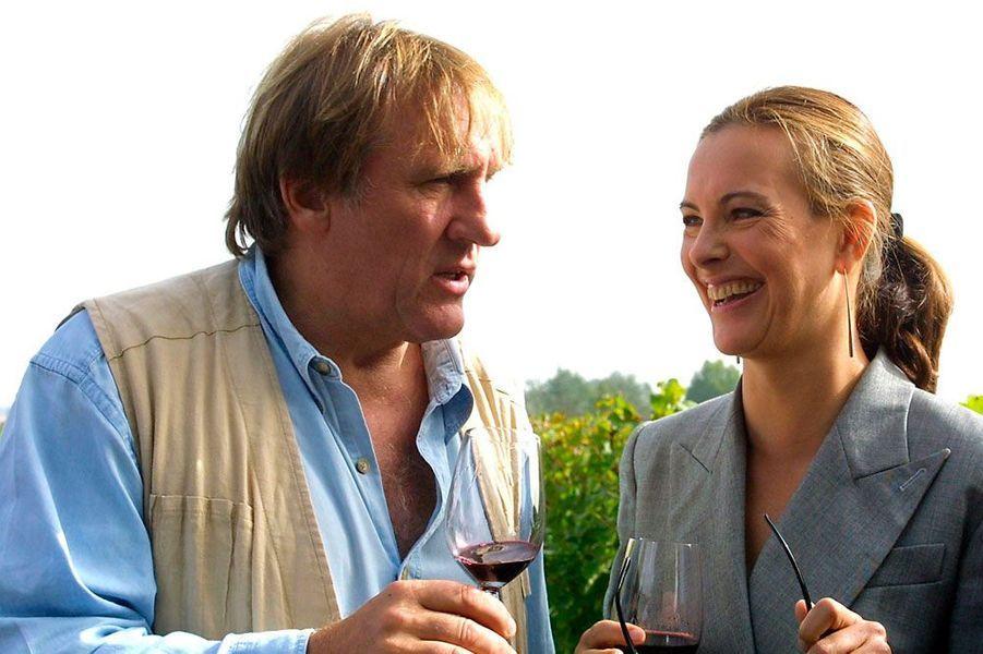 Carole Bouquet et Gérard Depardieu, le 12 octobre 2001
