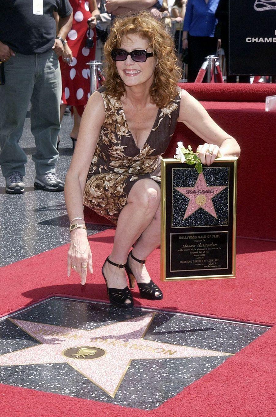 Susan Sarandon a enfin son étoile sur le Wall of Fame, 2002