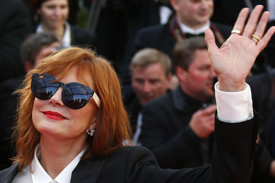 Susan Sarandon au Festival de Cannes 2016.
