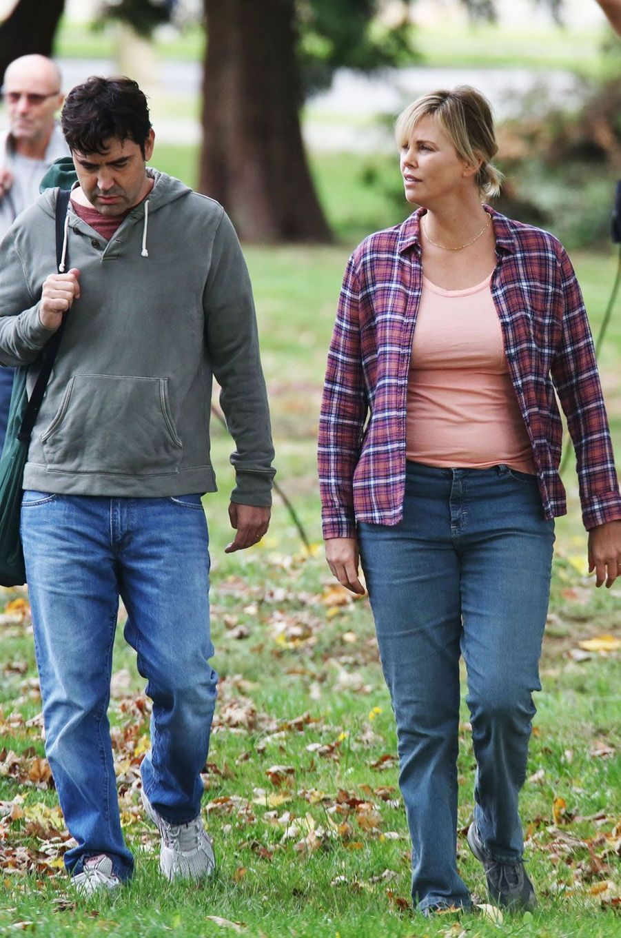 Charlize Theron et son partenaire de jeu Ron Livingston