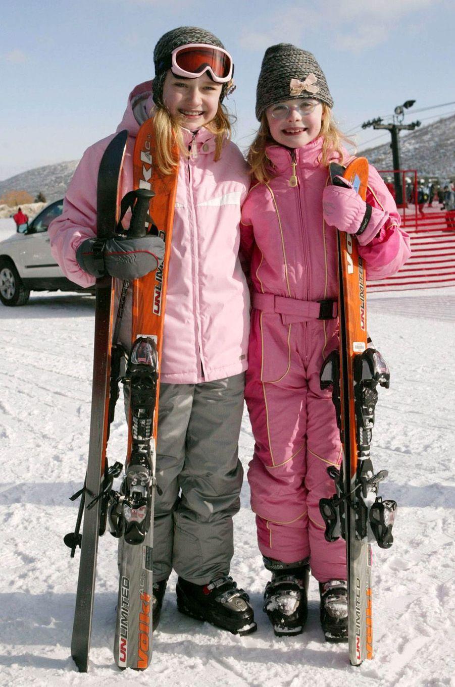 Elle Fanning et sa soeur Dakota au festival de Sundance, le 21 janvier 2007.