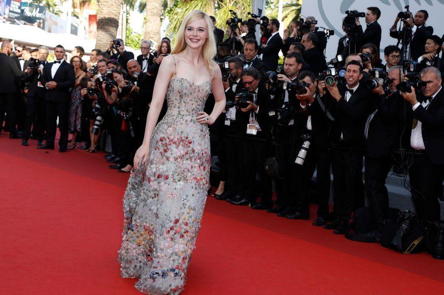 Elle Fanning au festival de Cannes, le 23 mai 2017.