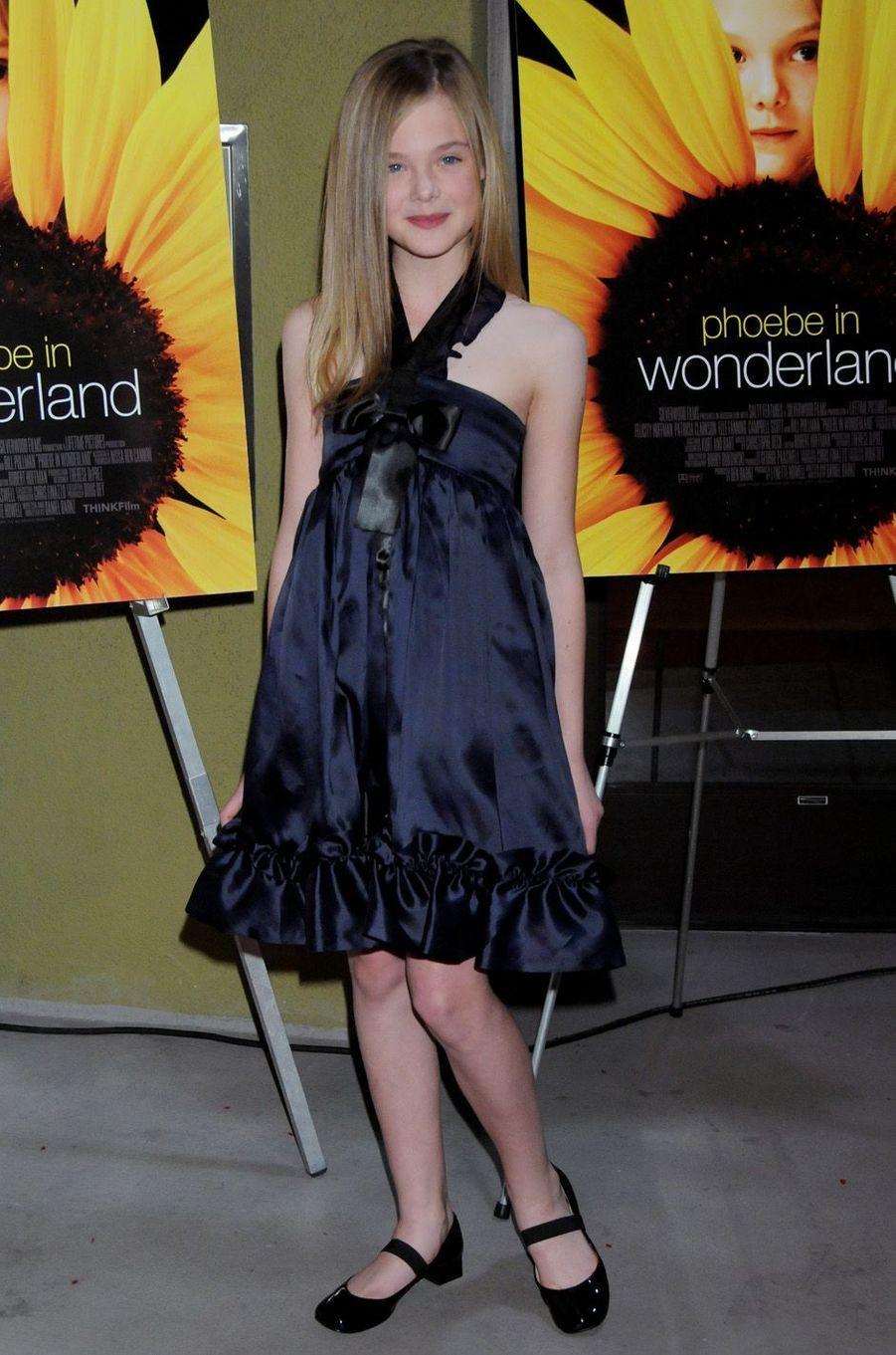 Elle Fanning à Los Angeles, le 1er mars 2009.