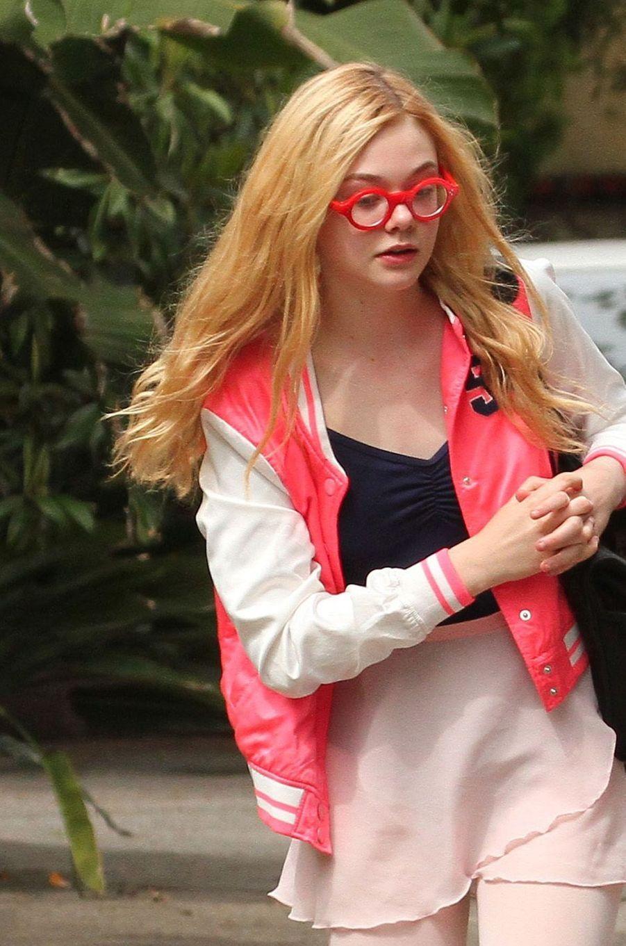 Elle Fanning, le 19 mars 2011.