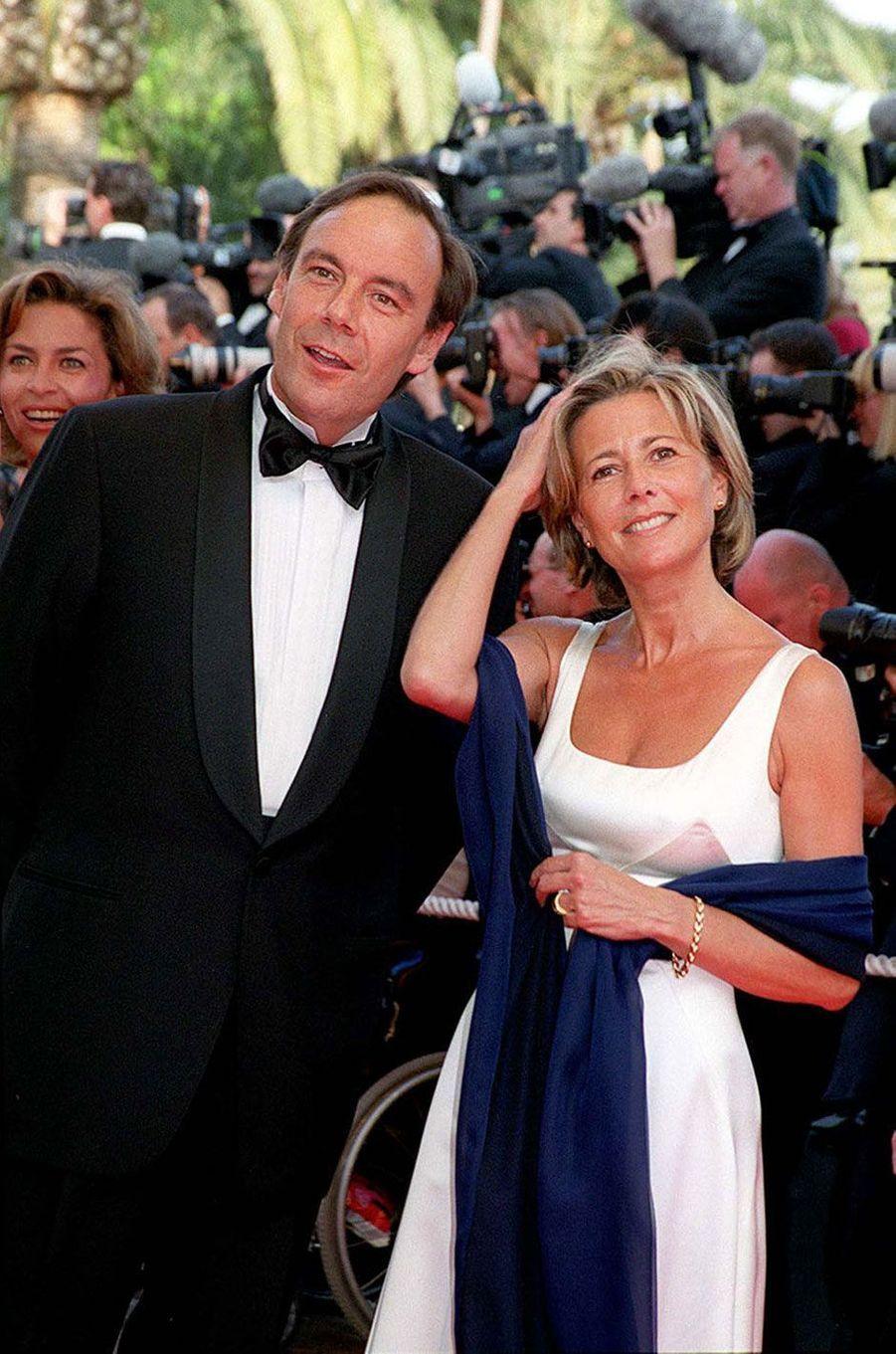 Claire Chazal et son futur mari Xavier Couture au Festival de Cannes en 1999
