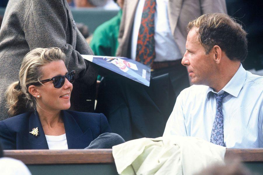 Claire Chazal en 1992, avec Patrick Poivre d'Arvor