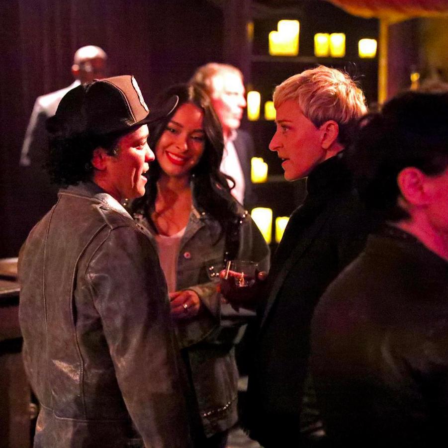 Ellen DeGeneres avec Bruno Mars