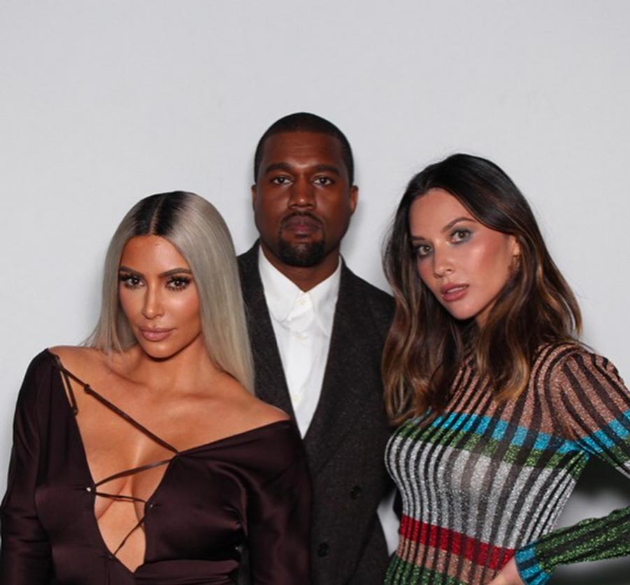 Kim Kardashian, Kanye West et Olivia Munn