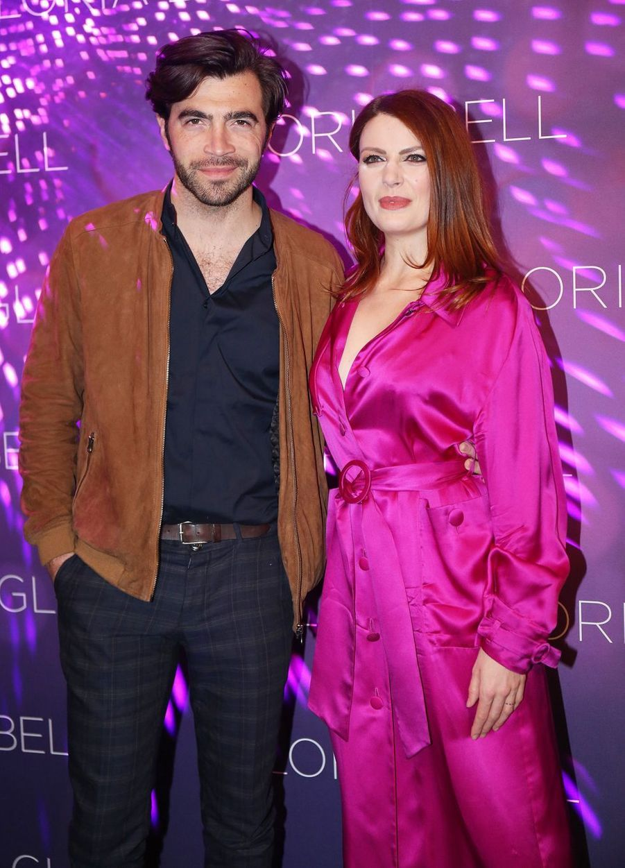 Élodie Frégé et Gian Marco à Paris, le 15 avril 2019