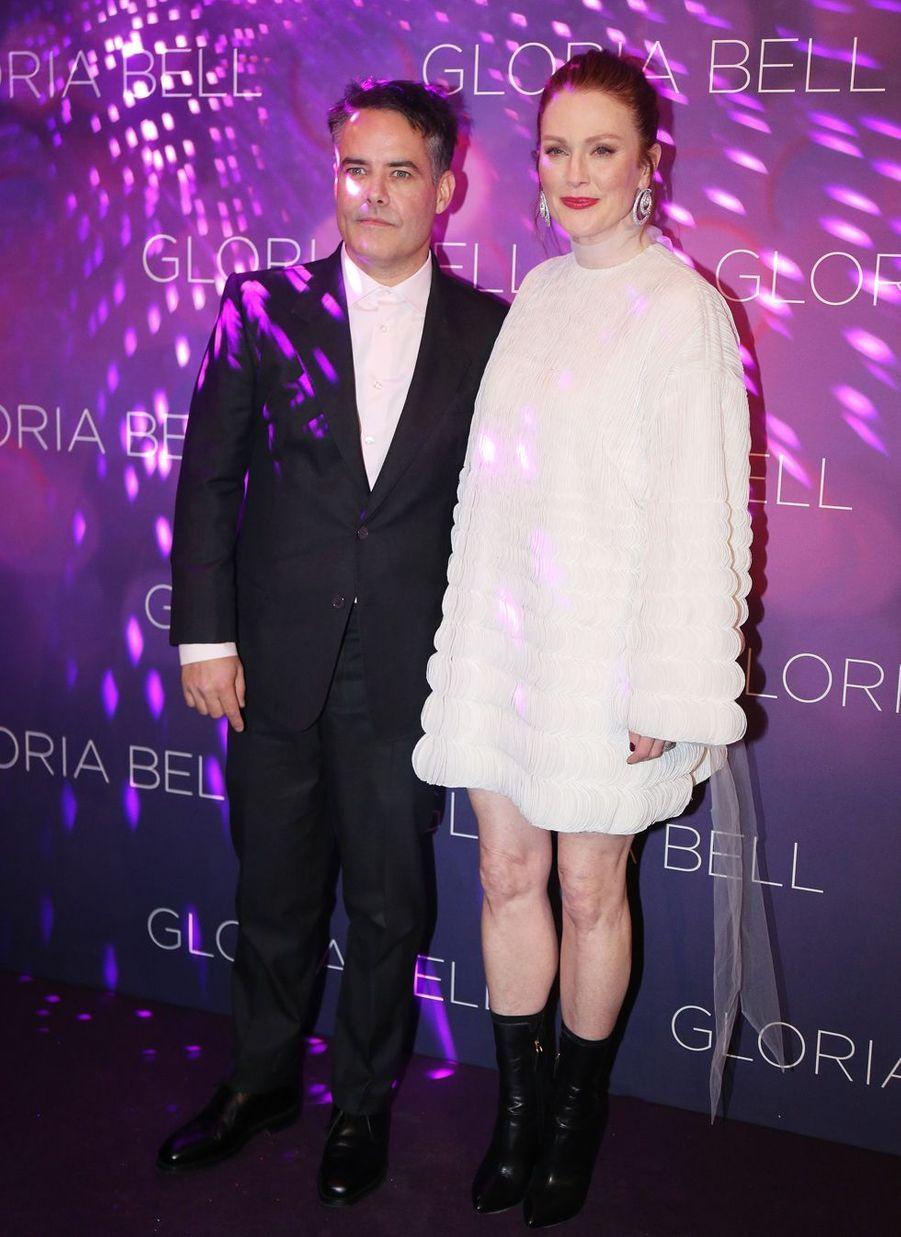 Julianne Moore et Sebastián Lelioà Paris, le 15 avril 2019
