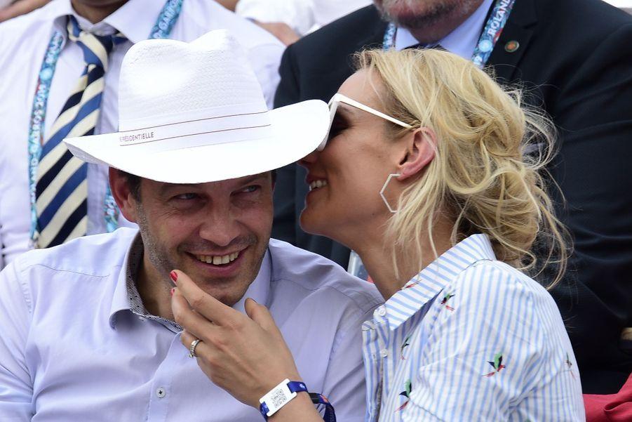 Elodie Gossuin et son mari Bertrand Lacherie à Paris, le 4 juin 2019