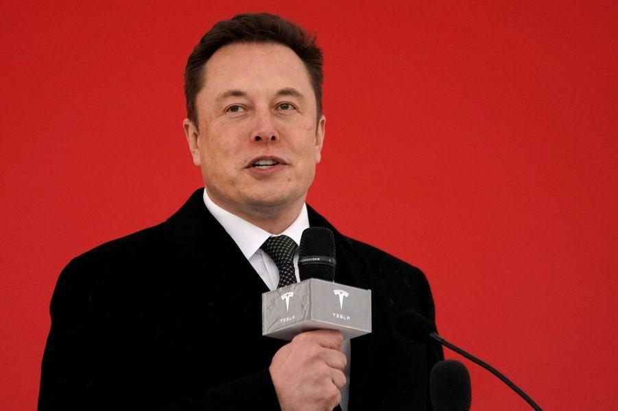 Elon Musk lors d'une conférence pour sa marque Tesla à Shanghai, le 7 janvier 2019
